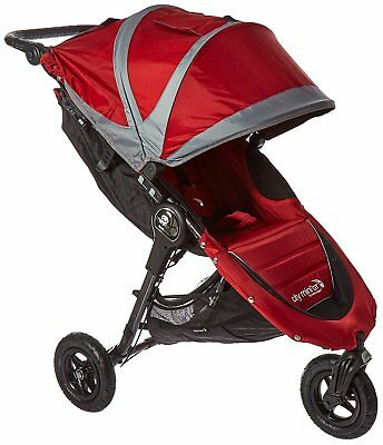 Baby Jogger City Mini GT Stroller- Crimson/Gray - New!! Free Ship!