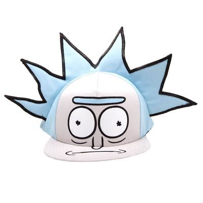 Official Rick and Morty 3D Hair Rick Character Snapback Cap Hat - One Size 115873c87773
