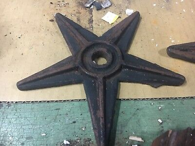 "19th century cast iron building support star - very minor pitting 7.5"" across"