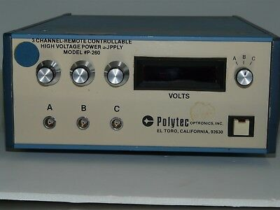 Polytec Optronics 3 ch Remote Controllable High Voltage Power Supply Model P-260