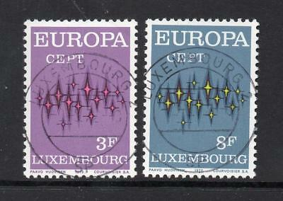 Luxembourg Used 1972 Sg890-891 Europa