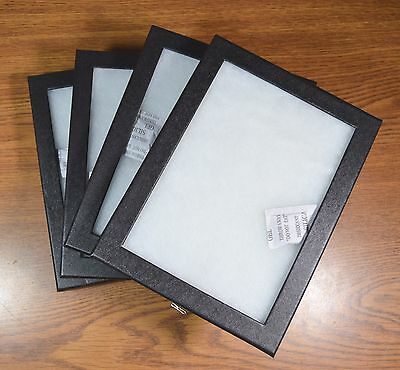 "4 Cases 8x6 x 3/4""  Riker Display Type Glass Top Thick Polly Filling"