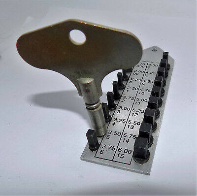 VINTAGE NO:5 / 3.50mm WINGED METAL CLOCK WINDING KEY WINDER