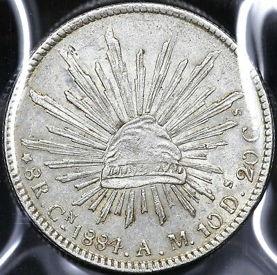 1884Cn-AM EIGHT 8 REALES MEXICO