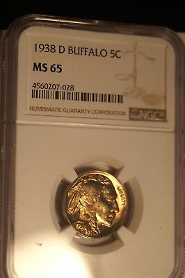 1938-D Buffalo Nickel Gem NGC MS-65.