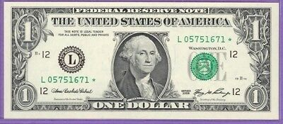 2006 $1.00 FRN STAR NOTE San Francisco District L* block Run 2 L05751671* UNC