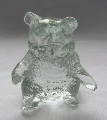 Mosser Glass Grizzly Bear ( Clear Crystal)