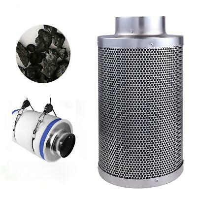 "4"" Air Carbon Charcoal Filter Inline Fan Scrubber Odor Control Gardening"