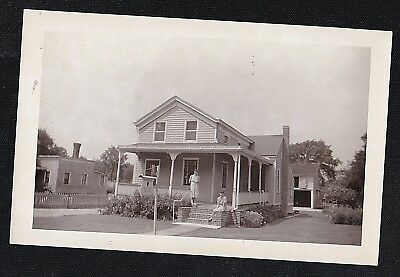 Old Vintage Antique Photograph Women in Front of Beautiful Country Home / House