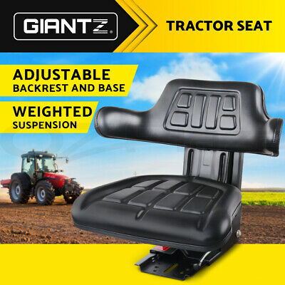 Universal Tractor Seat Excavator Truck Adjustable Backrest Suspension Leather