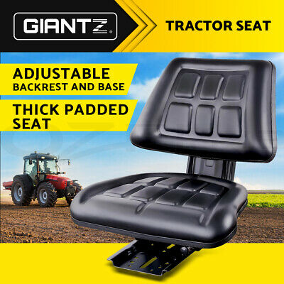 New Universal Tractor Seat Backrest Excavator Truck Suspension Spring PU Leather
