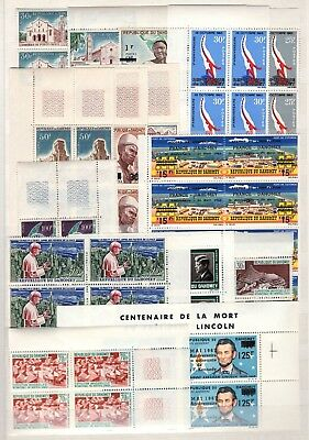 Ba56450 / Dahomey / Blocks Of 4 / Lot 1965 - 1967 Neuf ** / Mnh 110 €