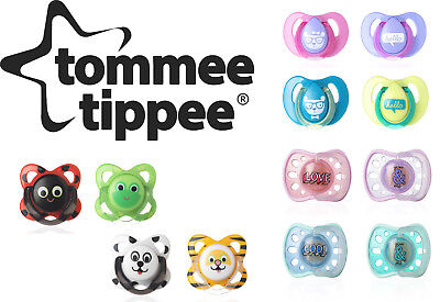 Baby Soother Dummy Pacifier Nipple Tommee Tippee  Age 6-12m or 6-18m 2pk In Box