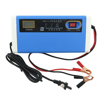 12V DC 10Amp Motorcycle Car Auto Battery Automatic Charger Blue