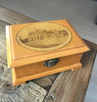 Beautiful Antique Mauchline Ware Box. Vintage Treen Box. Many Boxes For Sale