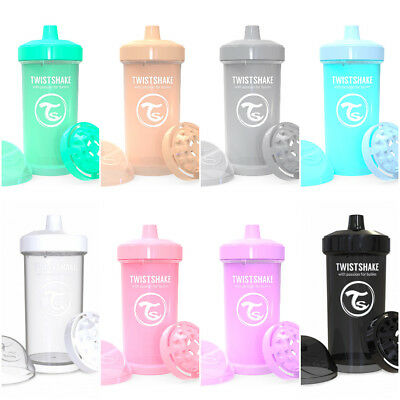 Twistshake Twist Shake Kids Cup Bottle Beaker Spill free Spout 12+m 360ml 12oz
