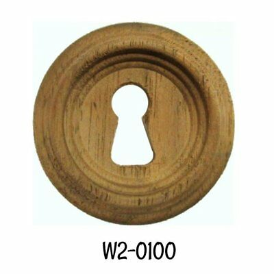 "Round Walnut Victorian Beehive Keyhole Cover 1-5/16"" Diameter"