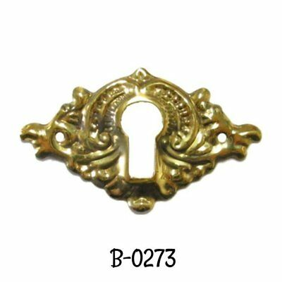 Stamped Brass Victorian Keyhole Cover