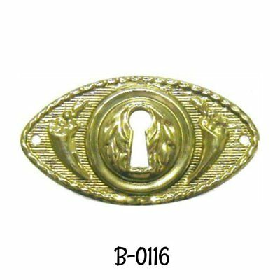 Victorian Style Stamped Brass Keyhole Cover