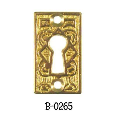 Victorian Eastlake Style Cast Brass Keyhole Cover
