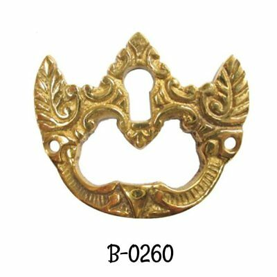 Cast Brass Victorian Style Drop Leaf Desk Pull With Keyhole