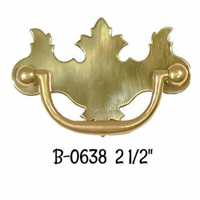 "2 1/2"" Polished Brass Early American Style Drawer Pull"