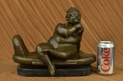 CLEARANCE SALE Fernando Botero Abstract Woman Resting Bronze Sculpture