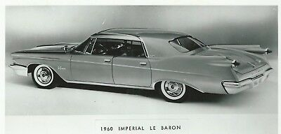 Imperial Le Baron Photograph 1960 Original Press Image Drawing
