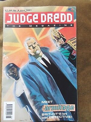 Judge Dread The Megazine Comic Rare Issue Number 9 With Protective Cover