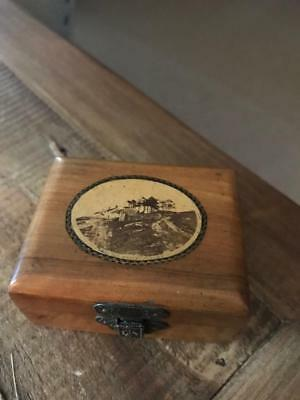 Beautiful Antique Mauchline Ware Box. Vintage Treen Box. The Old Wells Ilkley