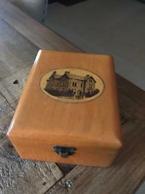 Beautiful Antique Mauchline Ware Box. Vintage Treen Box. Marlboro House