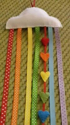 Hair Bow Holder children/'s gift keeps bows neat tidy Rainbow colour20