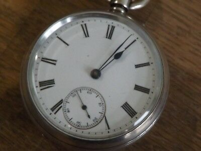 Antique Gents Solid Sterling Silver  Pocket Watch Nice