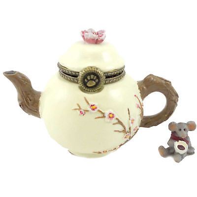 Boyds Bears Resin CAMOMILLES TEA TIME WITH STEEP Polyresin Treasure Box 4027342