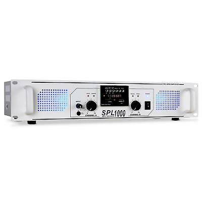 [Occasion] Ampli Dj Pa Skytec Spl-1000 Usb Sd Mp3 Rack 48Cm Radio Aux Led 2800W