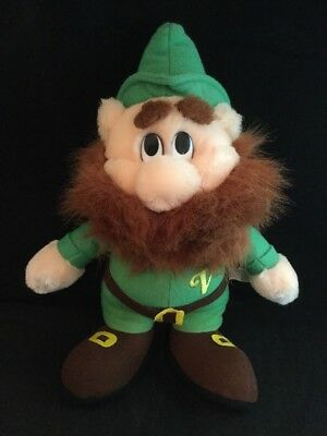 "VERNORS Stuffed Toy Vintage Plush 13"" GNOME Ginger Ale DETROIT MICHIGAN Soda Pop"