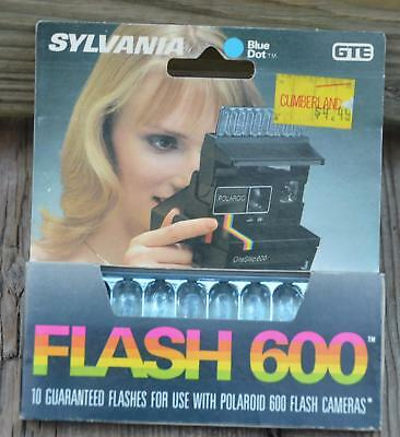 NOS Vintage SYLVANIA Blue Dot GTE 10 FLASH 600 Bulbs for Polaroid Amigo Camera