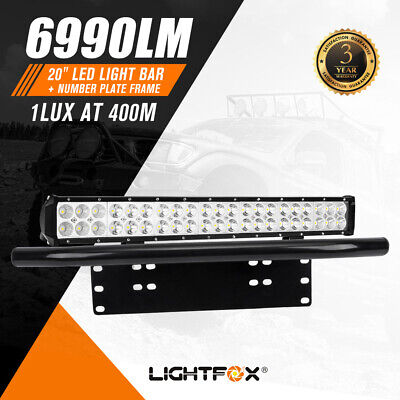 20inch Cree LED Light Bar Flood Spot Combo Plus Number Plate Frame