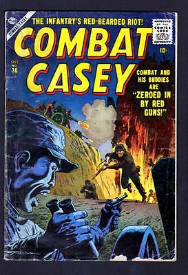 Combat Casey 30 3.5 Vg- 1956 Marvel Atlas War (4) Bob Powell Russ Heath
