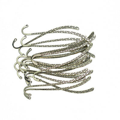 20pcs Tibetan Silver Beading Line Reading Metal Charm Bookmark Book Marks