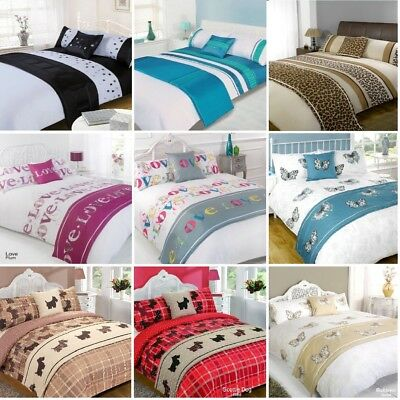 Duvet Cover with Pillow Case Quilt Bedding Set Bed in a Bag All Size Double King
