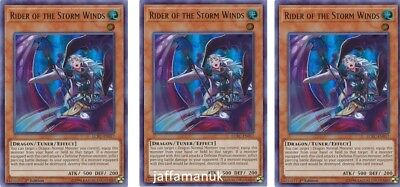 3 X YU-GI-OH CARD RIDER OF THE STORM WINDS SDBE-EN007