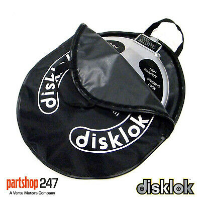 Disklok Car Steering Wheel Lock Carry Storage Case Cover Silver