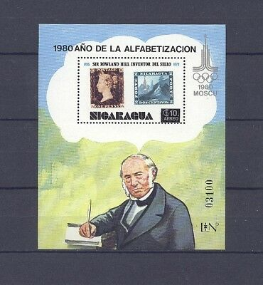 Olympaide, Hill - Nicaragua - Bl.134 ** MNH 1980
