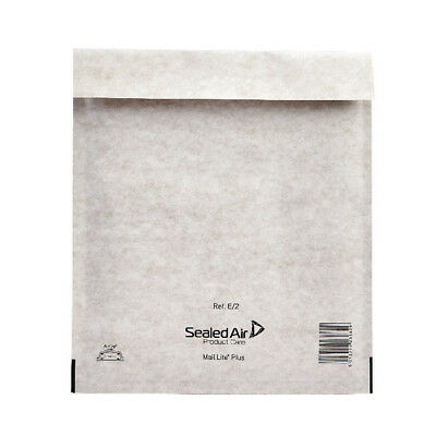 Mail Lite Plus Bubble Lined Size E/2 220x260mm Oyster White Postal Bag (Pack of