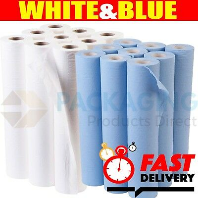 "Hygiene Couch Bed Roll Massage Table Dentist Clinic Rolls 10"" or 20"" x 40m"