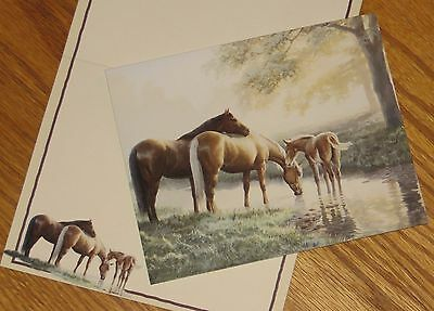 Persis Clayton Weirs Art - Spring Morning Horses - 2004 Lang 5x6 Note Cards 4ct