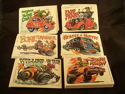 WEIRD WHEELS  Complete Trading Card ( Sticker ) Set