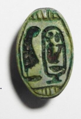 ZURQIEH - as3463- ANCIENT EGYPT. STONE SCARABOID . AMENHOTEP III CARTOUCHE