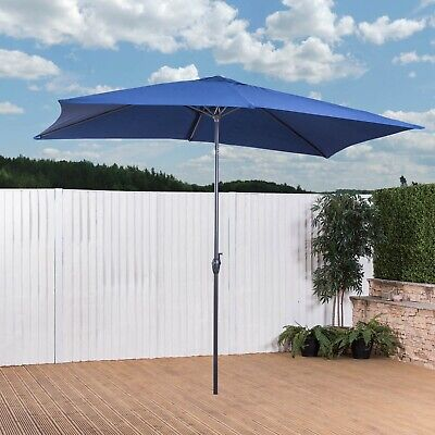 3m x 2m Garden Parasol with Crank - Choice of Colours